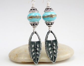 Long Dangle Earrings, Southwest Earrings, Western Jewelry, Pewter Jewelry, One of a Kind Earrings, Southwest Jewelry, Cool Earrings