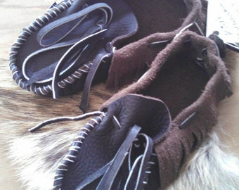 Buffaloskin Kids Moccasins --- Pre-made Children's Size 12
