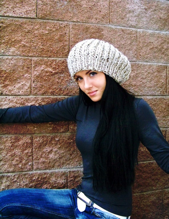 Knit Hat Pattern, Knitting Patterns Hats, Slouchy Beanie Pattern, Chunky Knitting Pattern, Slouchy Hat Pattern, Slouch Hat Pattern