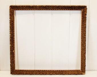 Vintage Wood and Gesso Frame Large Frame