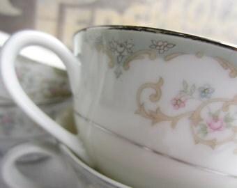 Vintage Footed Cup Rose Royal M Yamaka Japan
