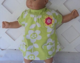 Bitty Baby Girl cute 3 pc. Green Summer  dress with  Socks and a headband     doll clothes