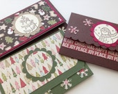 Christmas gift card holders, holiday gift card holders, Gift card holder, Money holder - Listing for ONE