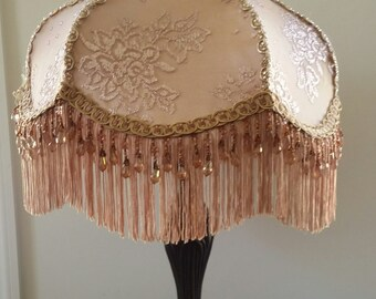 Beige Lamp shade with Lamp Base