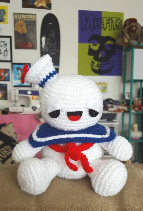 Ghostbusters Amigurumi Pattern : Ghostbusters Stay Puft Marshmallow Man Amigurumi Pattern ...