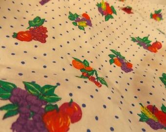 Vintage Fruit Fabric-Vintage Food Fabric-Extra Wide Vintage Fabric-Vintage Kitchen Fabric