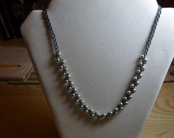 Swarovski Silver Pearl Necklace