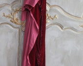 Ruby Silk Velvet~ Bella Notte Panel for Projects