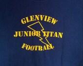 SALE Glenview Junior Titan Football tshirt shirt lightning bolt medium