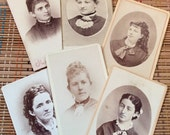 Comely Women--Lot of Vintage Cartes des Visite