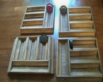 all wood homemade game piece  holder poker chips rummoli  scrabble name it