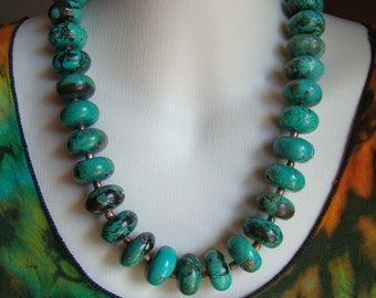 Turquoise Rondell Necklace