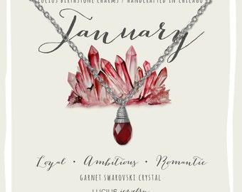 January Birthstone - January Birthstone Necklace - January Jewelry - Birthstone Necklace - Birthstone Jewelry - Swarovski Necklace