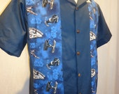 Star Wars Shirt size Large Millennium Falcon Tie Fighters