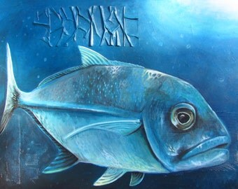 Original acrylic painting - 42 X 57 inches - Jackfish