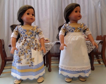 18 Inch Doll Clothes / Doll Dress and Doll Apron / Doll Clothes / Doll Clothing / Doll Accessories / Doll Outfit / American Girl Doll - 1047