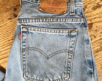 Vintage Levi's 550 high waist tapered leg jeans, Vintage Levi's jeans, high waist Levi's