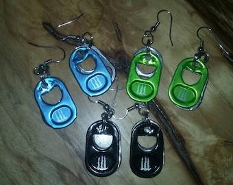 Monster Energy Drink Aluminum Tab Earrings