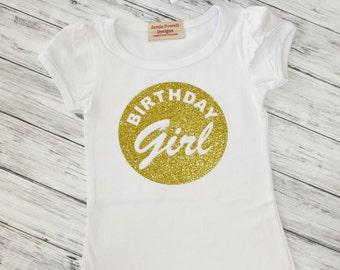 1st Birthday Shirt - Baby Girls Birthday Shirt- Cake Smashing Outfit- 2nd Birthday- Birthday Girl Shirt  3rd Birthday Shirt- One