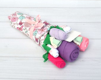 Baby Shower Gift, Baby Girl Gift, Newborn Baby Gift, Baby Clothing Bouquet, Baby Girl Set, Pregnancy Gift, Gift for New Mom