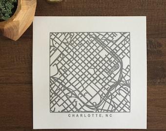 charlotte, charleston, paris, nyc, or boston pressed prints