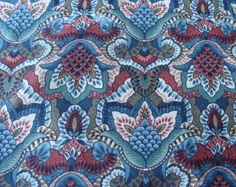 Vintage Waverly Floral Cotton Fabric ~ William Morris ~