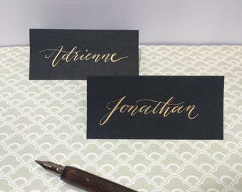 Custom calligraphy place cards, modern calligraphy, wedding placards, engagement, birthday, party