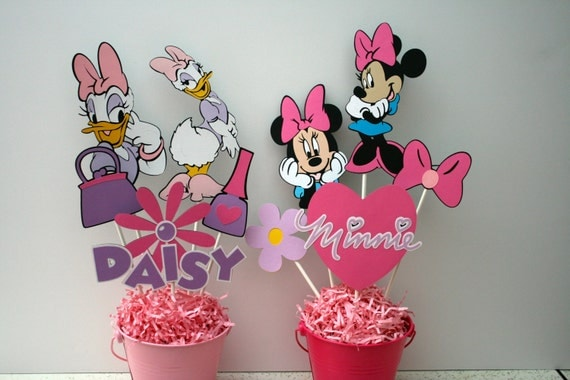 Minnie Mouse and Daisy Duck centerpieces Minnie and Daisy