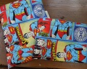 Reusable sandwich and/or snack bag - Reuse sandwich bag - Reusable snack bag - Snack bag for boys - Superman