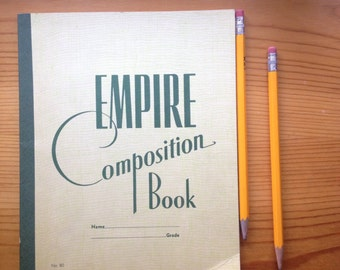 paper empire composition book test booklet english school supplies vintage