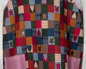 Rustic Country Quilt Print Wrap-Around Full Apron for the Quilt Lover