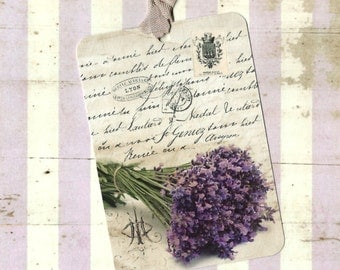 Tags, Lavender, Gift Tags, Lavender Tags, Party Favors, Labels