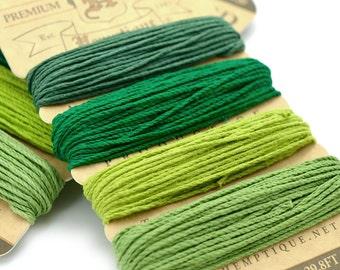 Green Hemp Twine, 1mm, Green Twine, Hemp Twine Cord, Scrapbooking Twine -HC42