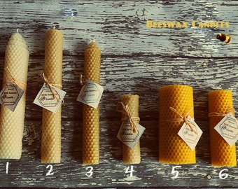 Beeswax candle. Eco-friendly candles. Choose 1.