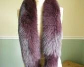 Fox Fur Collar / Purple Fox Collar