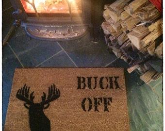 BUCK OFF Deer head silhouette © doormat