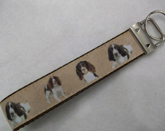 Springer Spaniel Dog Breed Key Wristlet
