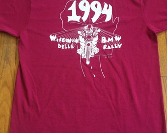 Vintage 1994 BMW motorcycle tally t-shirt