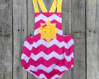 You are My Sunshine First Birthday sunsuit