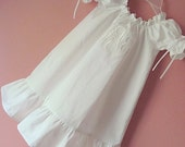 Wedding Recital Baptism Communion Monogrammed White Dress or Boutique Custom Color Choice  Sizes 3 months to 4