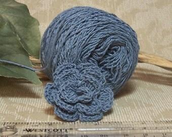 Sailor Blue 100% Cotton Yarn, 8/2 size, 3360 YPP, Unmercerized, Crochet Thread, Cotton Yarn,  BIN 8
