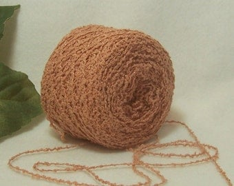 Faded Peach, Coral Color Yarn, Cotton Rayon Blend Yarn, Nice Bumpy Texture, Lace Fingering Weight, BIN 3