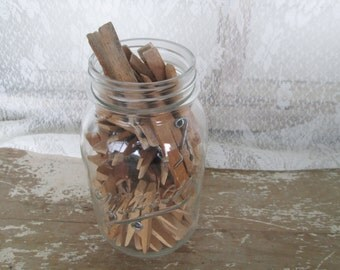 Wood Clothespins Peg Spring Style Clothespin Laundry Room  Farmhouse  Country Eco Friendly Green Living Outdoors Clothesline