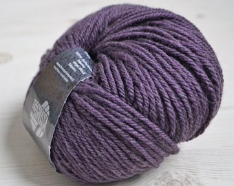 Knitting  yarn, Destash yarn, purple yarn, Aran weight, Y157