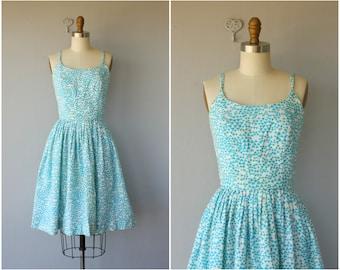 60s Sun Dress | 1960s Dress | Vintage 60s Dress | Clover Print Dress | 60s Day Dress | 50s Sun Dress | 1950s Dress