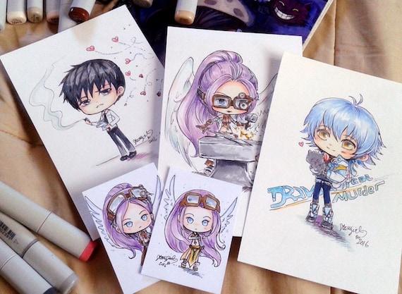 Custom Drawn Anime Chibi Art