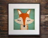Mister Fox ART Illustration archival pigment print SIGNED UNFRAMED