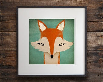 Mister Fox ART Illustration archival pigment print SIGNED UNFRAMED