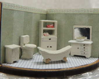 Dollhouse miniature 144th scale bathroom kit