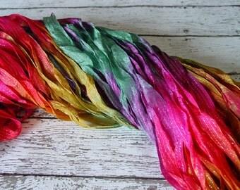 NeW - Hand dyed ribbon - FANTASY LAND dazzle ribbon, 5 yards